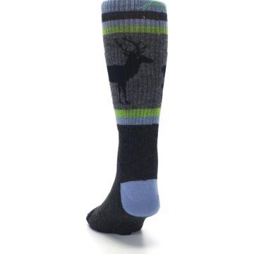 Image of Blue Green Buck Wool Men's Hiking Socks (back-17)