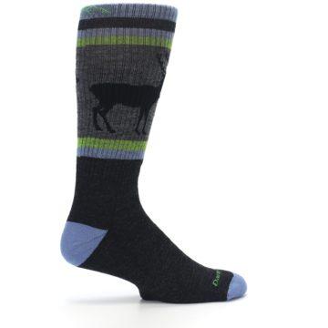 Image of Blue Green Buck Wool Men's Hiking Socks (side-1-24)