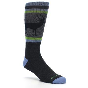 Image of Blue Green Buck Wool Men's Hiking Socks (side-1-27)