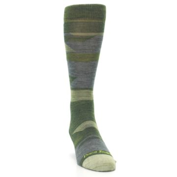 Image of Green Blue Geometric Wool Men's Lifestyle Socks (side-1-front-03)