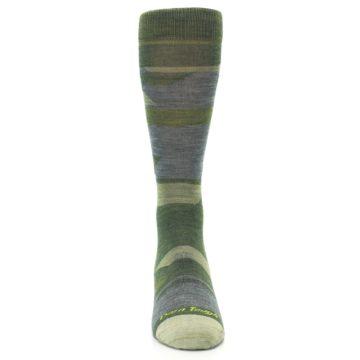 Image of Green Blue Geometric Wool Men's Lifestyle Socks (front-04)