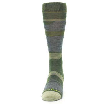 Image of Green Blue Geometric Wool Men's Lifestyle Socks (front-05)