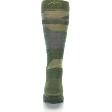 Image of Green Blue Geometric Wool Men's Lifestyle Socks (back-18)