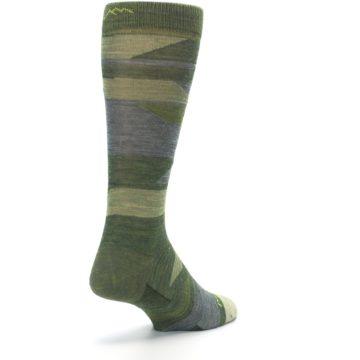Image of Green Blue Geometric Wool Men's Lifestyle Socks (side-1-back-21)