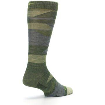 Image of Green Blue Geometric Wool Men's Lifestyle Socks (side-1-back-22)