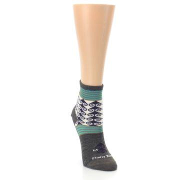 Image of Taupe Swirl Wool Women's Socks (side-1-front-03)