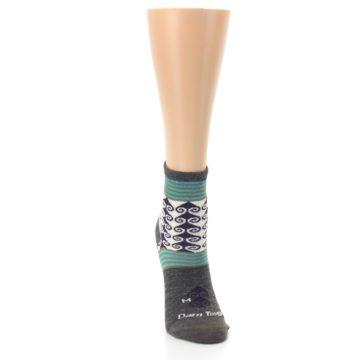 Image of Taupe Swirl Wool Women's Socks (front-04)