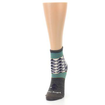 Image of Taupe Swirl Wool Women's Socks (side-2-front-07)