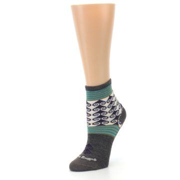 Image of Taupe Swirl Wool Women's Socks (side-2-09)