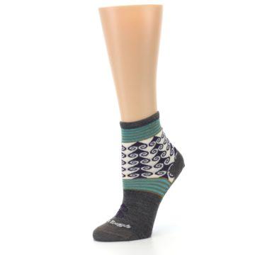 Image of Taupe Swirl Wool Women's Socks (side-2-10)