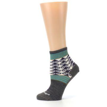 Image of Taupe Swirl Wool Women's Socks (side-2-12)