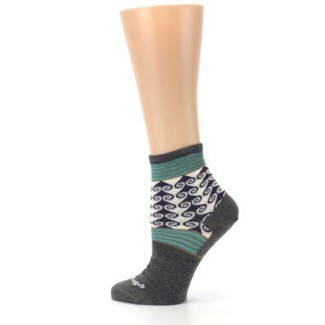 Image of Taupe Swirl Wool Women's Socks (side-2-13)