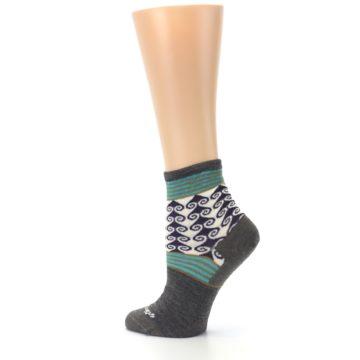 Image of Taupe Swirl Wool Women's Socks (side-2-back-14)