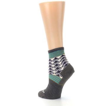 Image of Taupe Swirl Wool Women's Socks (side-2-back-15)