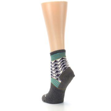 Image of Taupe Swirl Wool Women's Socks (side-2-back-16)