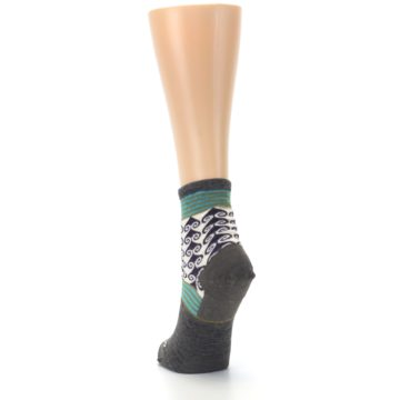 Image of Taupe Swirl Wool Women's Socks (back-17)