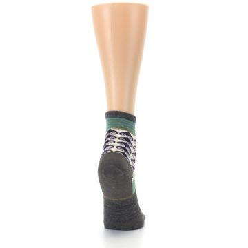 Image of Taupe Swirl Wool Women's Socks (side-1-back-20)
