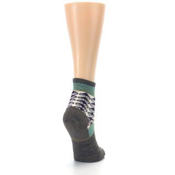 Image of Taupe Swirl Wool Women's Socks (side-1-back-21)