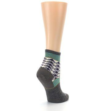 Image of Taupe Swirl Wool Women's Socks (side-1-back-22)