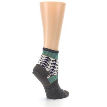 Image of Taupe Swirl Wool Women's Socks (side-1-23)