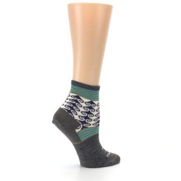 Image of Taupe Swirl Wool Women's Socks (side-1-24)