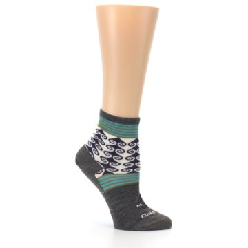 Image of Taupe Swirl Wool Women's Socks (side-1-26)