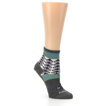 Image of Taupe Swirl Wool Women's Socks (side-1-27)