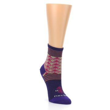 Image of Purple Pink Swirl Wool Women's Socks (side-1-front-02)