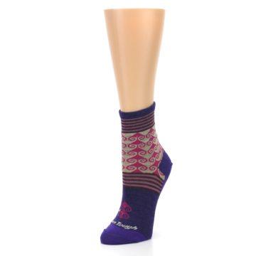 Image of Purple Pink Swirl Wool Women's Socks (side-2-front-08)
