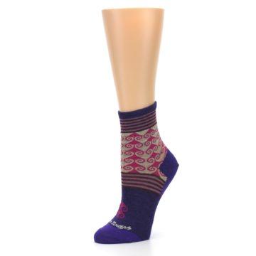 Image of Purple Pink Swirl Wool Women's Socks (side-2-09)