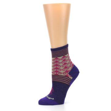 Image of Purple Pink Swirl Wool Women's Socks (side-2-10)