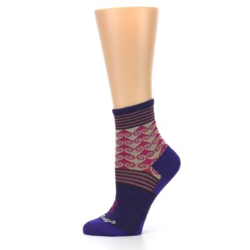 Image of Purple Pink Swirl Wool Women's Socks (side-2-11)