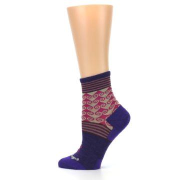Image of Purple Pink Swirl Wool Women's Socks (side-2-12)
