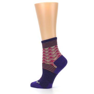 Image of Purple Pink Swirl Wool Women's Socks (side-2-13)
