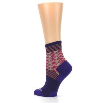 Image of Purple Pink Swirl Wool Women's Socks (side-2-back-14)