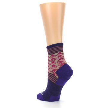 Image of Purple Pink Swirl Wool Women's Socks (side-2-back-15)
