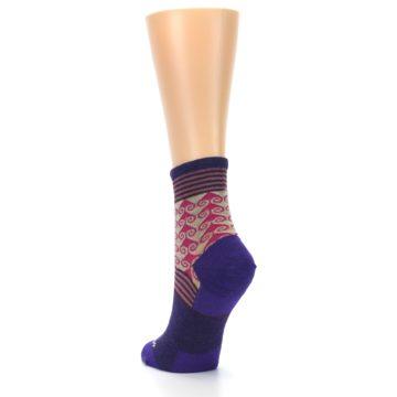 Image of Purple Pink Swirl Wool Women's Socks (side-2-back-16)