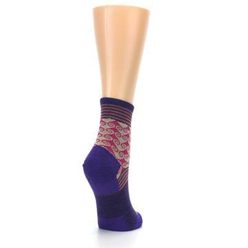 Image of Purple Pink Swirl Wool Women's Socks (side-1-back-21)