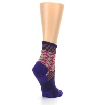 Image of Purple Pink Swirl Wool Women's Socks (side-1-back-22)