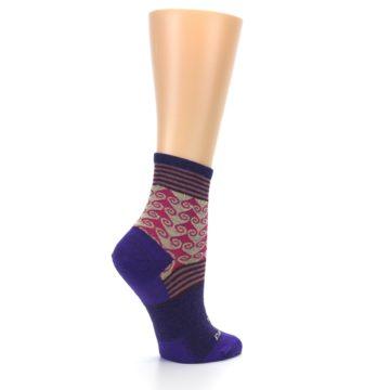 Image of Purple Pink Swirl Wool Women's Socks (side-1-23)