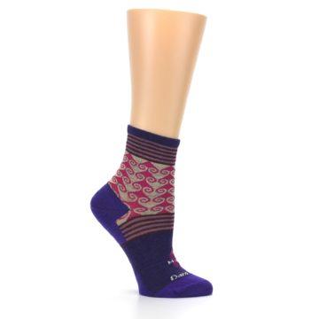 Image of Purple Pink Swirl Wool Women's Socks (side-1-25)