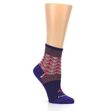 Image of Purple Pink Swirl Wool Women's Socks (side-1-26)