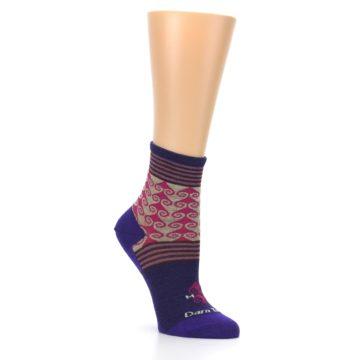 Image of Purple Pink Swirl Wool Women's Socks (side-1-27)