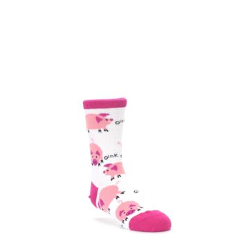 4-9Y-White-Bunch-of-Pigs-Oink-Kids-Dress-Socks-Wild-Habitat
