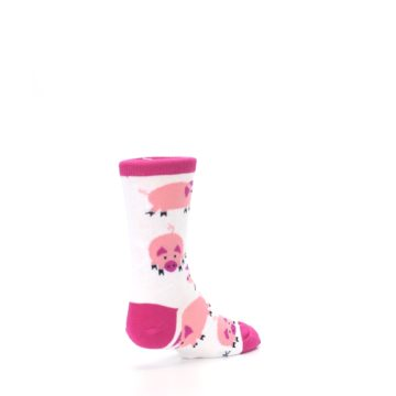 Image of White Bunch of Pigs Oink Kid's Dress Socks (side-1-back-21)
