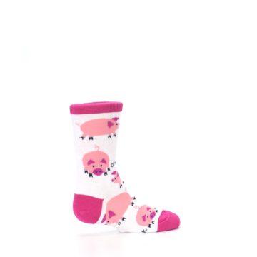 Image of White Bunch of Pigs Oink Kid's Dress Socks (side-1-23)