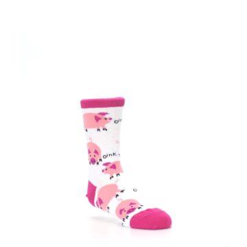 Image of White Bunch of Pigs Oink Kid's Dress Socks (side-1-27)
