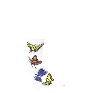 Image of White Multi Butterflies Kid's Dress Socks (side-1-25)