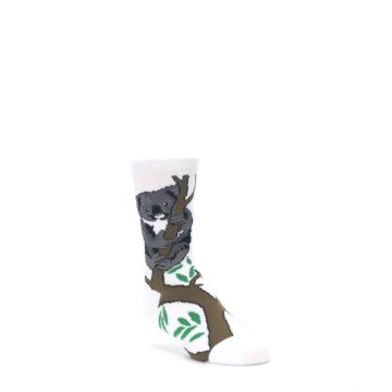 White-Gray-Koala-Bear-Kids-Dress-Socks-Wild-Habitat