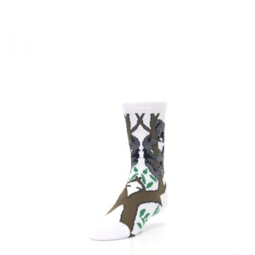 Image of White Gray Koala Bear Kid's Dress Socks (side-2-front-07)